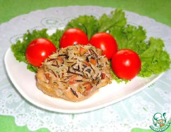 Рецепт: Куриные тарелочки с рисом и ветчиной