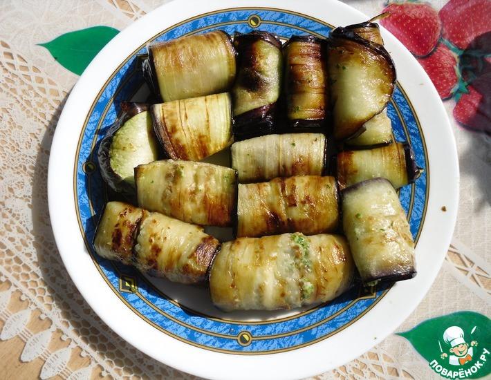 Рецепт: Баклажаны с орехами и петрушкой
