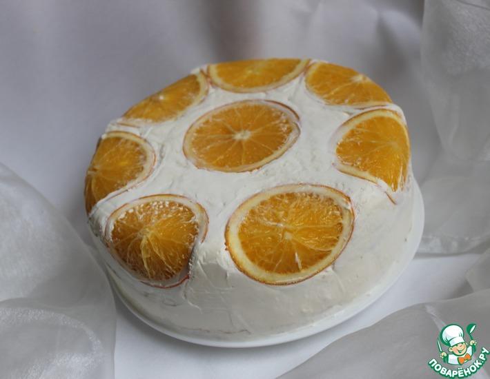Рецепт: Торт Апельсиновая нежность для Ларисы