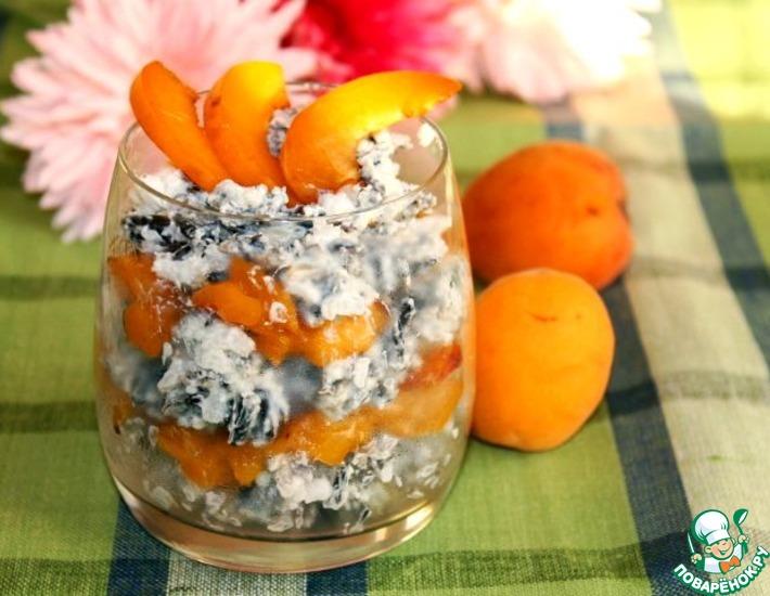 Рецепт: Десерт из риса с абрикосами фламбе