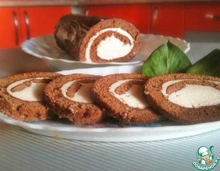 Рецепт: Шоколадный рулет со вкусом Baileys