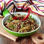 Рис с капустой и телятиной