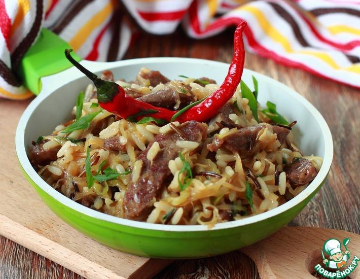 Рецепт: Рис с капустой и телятиной