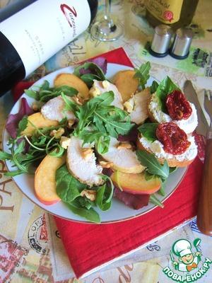 Рецепт Салат с курицей и персиками в итальянском стиле