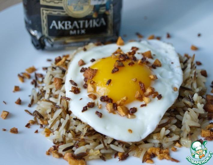 Рецепт: Жареный рис с хрустящим имбирем