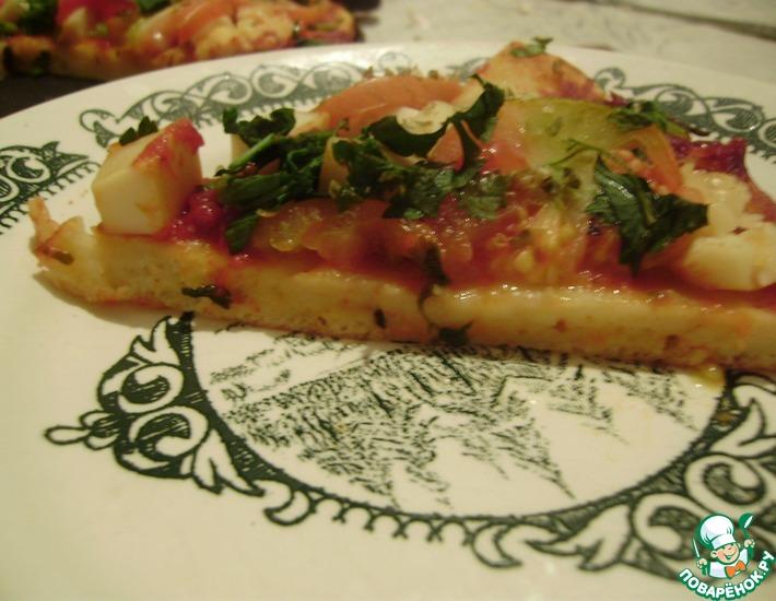 Рецепт: Пицца из блинного теста