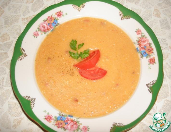 Рецепт: Гороховый крем-суп цвета солнца