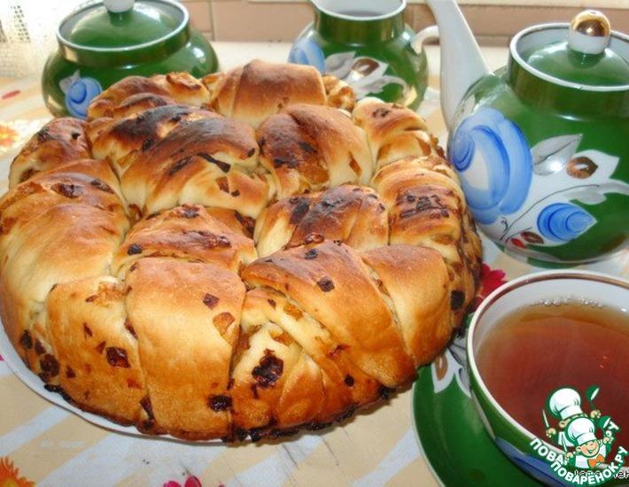 Рецепт: Постный пирог Луковник на рисовом отваре