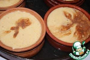 Флан-фламбе кокосово-абсентный – кулинарный рецепт