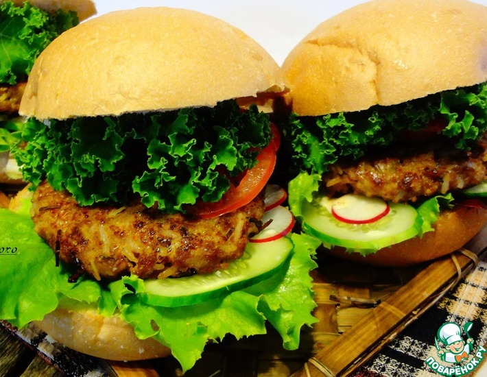 Рецепт: Гамбургеры с диким рисом