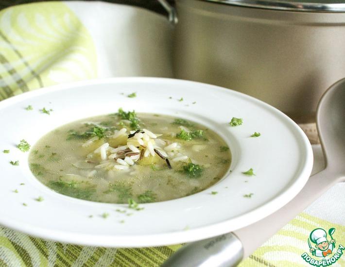 Рецепт: Дикий рис в качестве ингредиента для супа