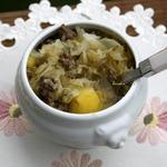 Айнтопф из капусты, картофеля и фарша