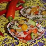 Салат с диким рисом и оливками
