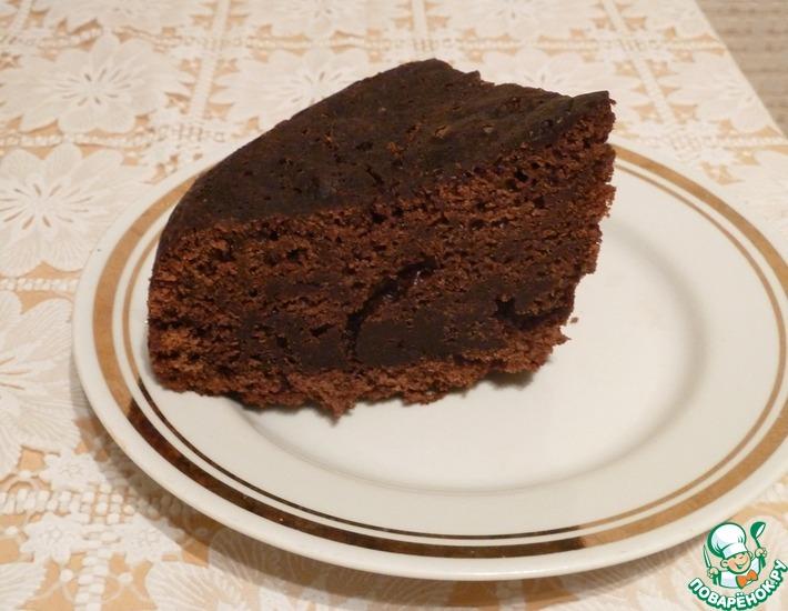 Рецепт: Бисквит шоколад на кипятке в мультиварке