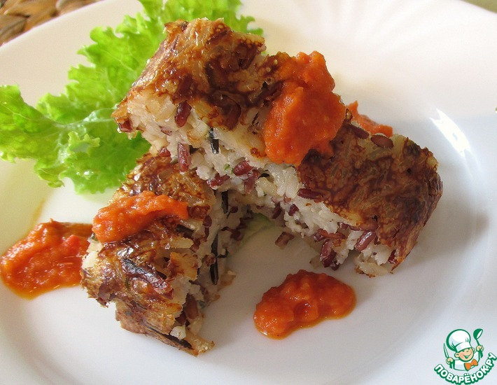 Рецепт: Террин с диким рисом и томатным соусом
