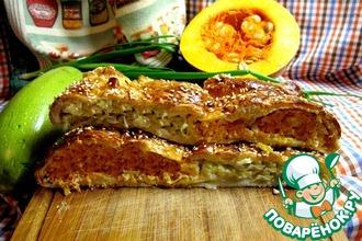 Рецепт: Сочный пирог с кабачками и тыквой Колокитопита Политико
