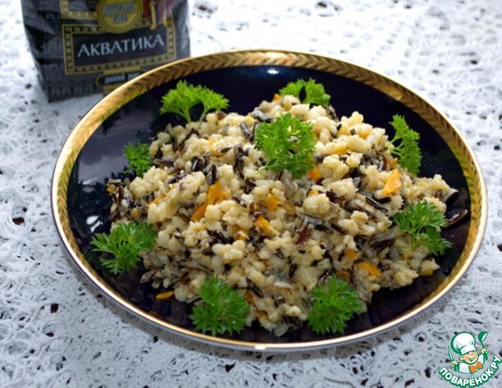 Рецепт: Плов из дикого риса и перловой крупы