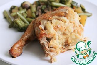 Рецепт: Фаршированная курица Мой семейный рецепт