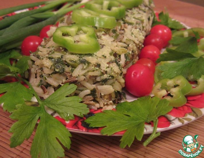 Рецепт: Запеканка из риса со шпинатом