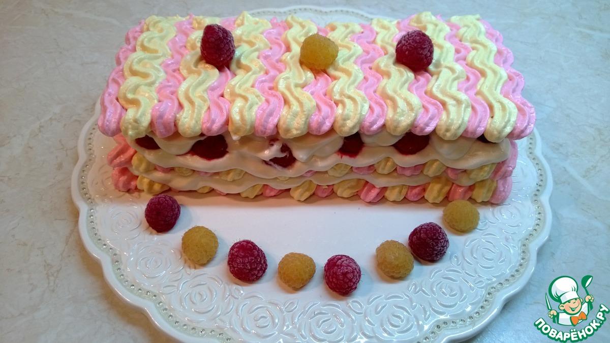 "Торт безе ""Ягода-малинка"""