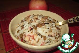Рецепт: Пряный фруктово-рисовый десерт