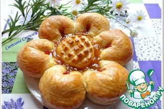 Рецепт: Пирог Цветок с джемом