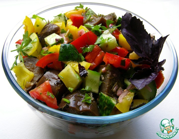 Рецепт: Салат из баклажанов «Баку» и варианты