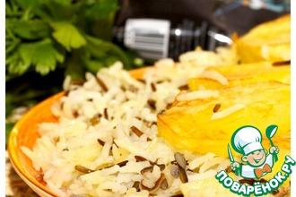 Рецепт: Рассыпчатый рис и золотистый картофель