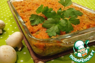 Рецепт: Грибной гратен с макаронами и сыром чеддер Осенний бархат