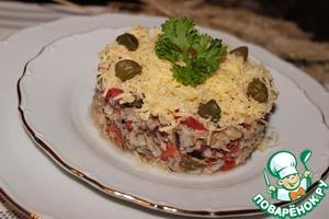 Рецепт Салат с диким рисом, тунцом и каперсами