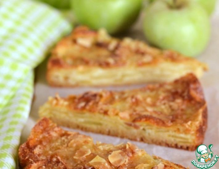 Рецепт: Нежный яблочный пирог с хрустящей корочкой