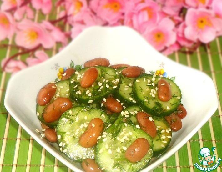 Рецепт: Салат в японском стиле