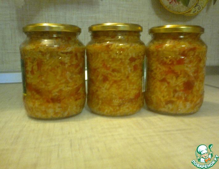 Рецепт: Салат консервированный с рисом