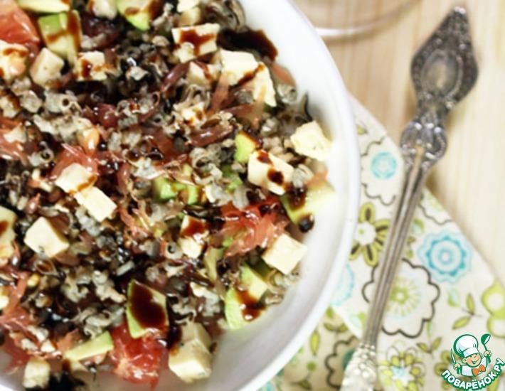 Рецепт: Салат из дикого риса с грейпфрутом