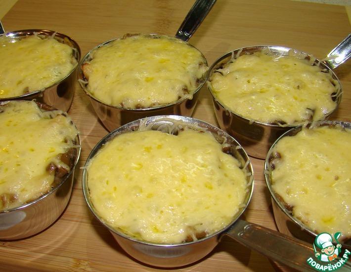 Рецепт: Жюльен с курицей и грибами