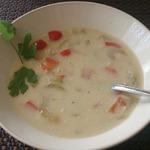 Суп сливочный грибной с овощами