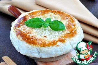 Рецепт: Порционный пирог из семги, грибов и риса в сковороде