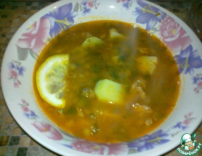 Рецепт: Суп из чечевицы с томатом