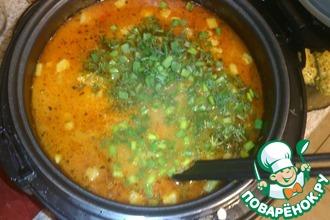 Рецепт: Гороховый суп с колбасным сыром
