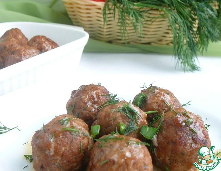 Рецепт: Мясные шарики с начинкой