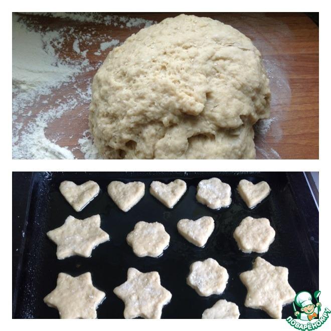 Печенье постное на рассоле с кунжутом