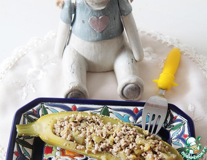 Рецепт: Лодочки из кабачка