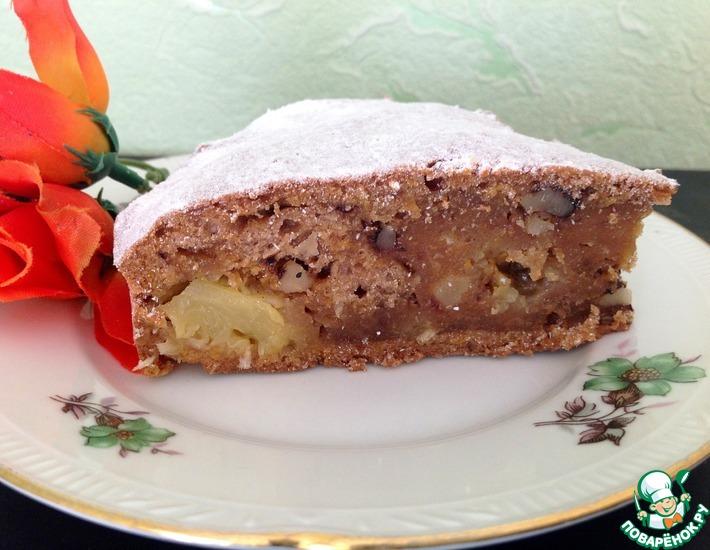 Рецепт: Морковный постный пирог с ананасом