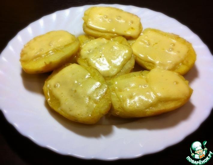 Рецепт: Картофель под сыром в микроволновке