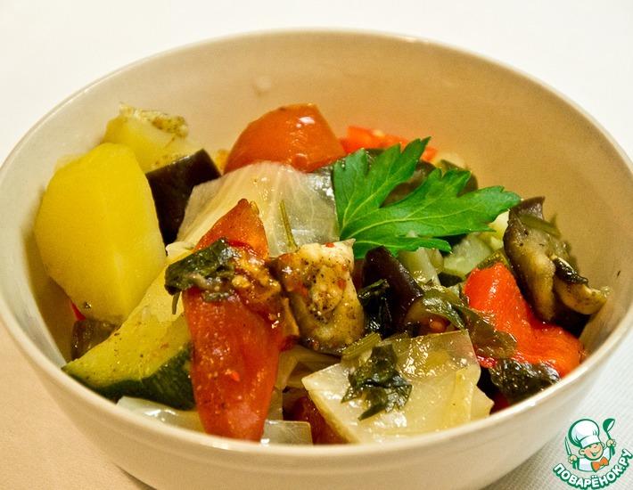 Рецепт: Овощное рагу в мультиварке