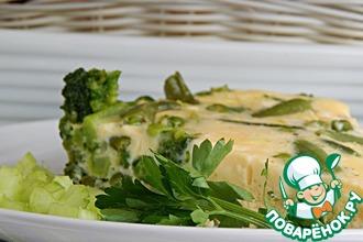 Рецепт: Зеленый омлет в мультиварке