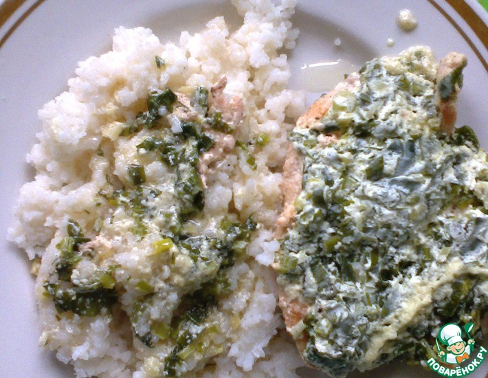 Рецепт: Куриные грудки в чесночно-луковом сметанном соусе