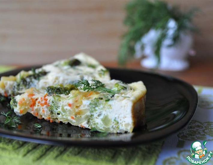 Рецепт: Омлет с овощами Рецепт от папы