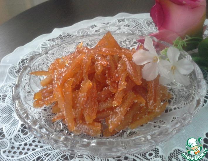 Рецепт: Цукаты апельсиновые сахарные