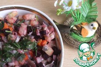 Рецепт: Салат с хамсой Родом из детства